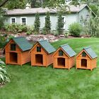Wood Dog House Kennel Pet Outdoor Shelter Home Indoor Resistant
