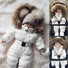 Toddler Baby Boy Girl Winter Romper Jacket Hooded Jumpsuit Thick Coat Outfit 9