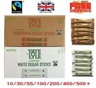 Sugar Individual Sticks Sachets White and Brown Demerara Granulated Fairtrade UK