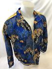 MENS VICTORIOUS TRACK JACKET Urban ZIP UP BLUE and GOLD TIGE