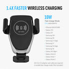 10W Qi Wireless Fast Charger For iPhone 8 X Samsung S9 S8 Car Phone Mount Holder