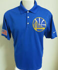 S-3XL Blue Golden State Warriors Nike Dri-FIT USA Golf db MENS #18F Polo Shirt on eBay