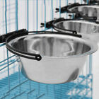 Sale Stainless Steel Hanging Food Water Bowl For Crate Cages Coop Dog Bird Pet Z