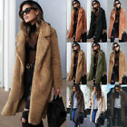 Plus Size Womens Winter Teddy Bear Fleece Fur Fluffy Coat Jackets Jumper Outwear