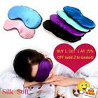 Luxury Pure Organic Mulberry  Silk Sleep Eye Mask Soft Adjustable Strap