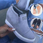 Внешний вид - Womens Fashion Slip-on Wedge Heel Sneakers Casual Sport Elevator Platform Shoe