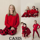 USA Christmas Family Matching Pajamas Set Adult Women Kids Sleepwear Nightwear