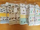 Carter's soft 100% cotton flannel 4 pack recieving blankets, baby boy, NWT