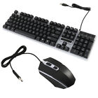 LED Backlit Light Multimedia USB Wired Gaming Keyboard and Optical Mouse USB Set