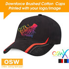 20 X CUSTOM/PERSONALISED PRINTED HEAVY BRUSHED COTTON DOWNFORCE SPORT CAPS