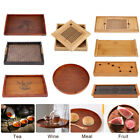 Внешний вид - Wooden Serving Tray With Handles Food Tea Table Bamboo Tray Coffee Plate Gadget