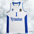 All Sewn LaMelo Ball #1 Vytautas Basketball Jersey White Men S-2XL