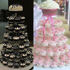 6/7 Tier Round Circle Clear Acrylic Cupcake Stand Party Wedding Cup Cake Holder