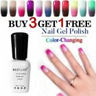vts Temperature Change Color Mood Changing Gel Nail Polish Soak off UV Gel Nails