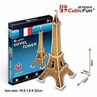3d Puzzle Eiffer Tower France Cubicfun S3006h 20 Pieces Decorative Best Selle...
