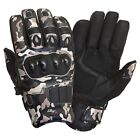Short Cuir Joint Protection Moto Gants Camouflage