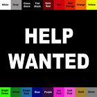 Help Wanted Decal Vinyl Job Hiring Sticker