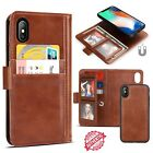 Magnetic Leather Card Wallet with Album Clip Case Cover For iPhone XS X 7 8 Plus