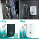 Bristan Bliss Electric Shower, Black White 8.5kw 9.5 10.5kw New Touchscreen Led