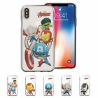 Avengers Mini Clear Jelly Cover Galaxy S10 S9 iPhone XS Max XR X 8 7 6 Plus Case