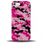 Pink And Black Camo Design Phone Case Cover | Army Colours Camouflage B715