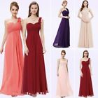 Wedding Dress A-line Chiffon Simple One-Shoulder Sleeveless Bridesmaid Dresses
