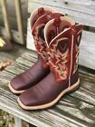 Twisted X Men's Lite Cowboy Brown & Burnt Orange Square Toe Work Boot MLCW011