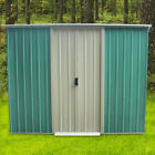 Metal Garden Shed 8X6, 8X8,10X8 Apex Roof Outdoor Garden Storage with free base