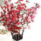 Uk 15 Heads Artificial Cherry Blossom Branch Fake Silk Flower Party Home Decor