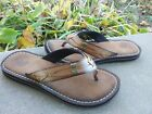 CLARKS Brown Leather SANDALS SHOES Womens size 7 M Casual Flats shos FREESHIPPIN
