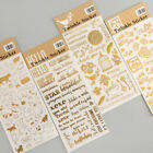 Gold Twinkle Daily Decorative Washi Stickers Scrapbooking Album Label Sticker
