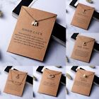 Women Necklace Elephant Pendant Gold Clavicle Chains Choker Card Jewelry Gifts