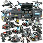 8 IN 1 White Lgo City Special Police Series SWAT Truck Station Building Blocks