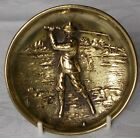 ANTIQUE BRASS / BRONZE GOLFING PIN DISH HARRY VARDON  BY JOSEPH WALKER 1907-8