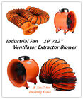 10/12 Extractor Fan Blower portable 5m Duct  Axial Motor Rubber Feet Garage