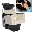 Adjustable Hair Washing Sink and Faux Leather Chair Unit For Salon Barber Shop
