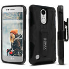 LG Aristo / Rebel 2 / LG Fortune Case, Dual Layer Case with Kickstand & Holster