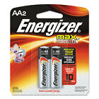 Energizer MAX Alkaline Batteries AA 2 Batteries/Pack E91BP2