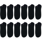 12 Pairs Cotton Low Cut Ankle Men Socks Athletic Mens Casual Black White Gray
