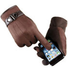 Womens Mens Winter Warm Suede Leather Fleece Lined Driving Touch Screen Gloves <br/> Black/Brown/Blue/Gray/Sand/Pink#Touch Screen#Warm#in UK