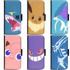 PIN-1 Game Pokemon 9 Phone Wallet Flip Case Cover for Samsung