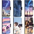 PIN-1 Anime Your Name Phone Wallet Flip Case Cover for Samsung