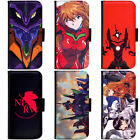 PIN-1 Anime Neon Genesis Evangelion Phone Wallet Flip Case Cover for Samsung