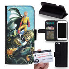 PIN-1 Anime One-Punch Man Phone Wallet Flip Case Cover for Samsung