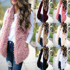 Women Ladies Warm Gilet Outwear Vest Faux Fur Waistcoat Casual Loose Jacket Coat