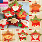 Xmas Cotton Pillow Case Linen Cushion Cover Merry Christmas Home Decoration USA image