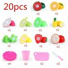 28Pcs Set Kids Pretend Role Play Kitchen Fruit Vegetable Food Toy Cutting Gift