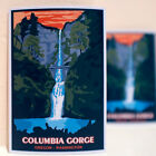 "#3631 Columbia Gorge Oregon Washington Travel Luggage Label 4x3"" Decal sticker"