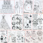Внешний вид - Happy Girl Transparent Silicone Clear Stamps DIY Scrapbook Embossing Card School