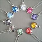 Glow In The Dark Jewelry Full Moon Galaxy Planet Glass Cabochon Pendant Necklace